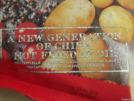 Картофельные чипсы не жаренные в масле