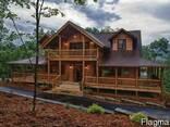 Деревянные дома из оцилиндрованного бревна, дикий сруб. - фото 2