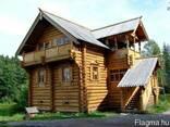Деревянные дома из оцилиндрованного бревна, дикий сруб. - фото 4