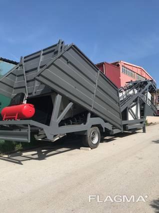 MVS 60M 60m3/hour Mobile Concrete Batching Plant
