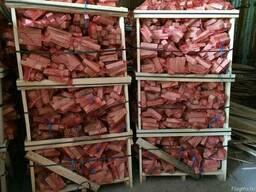 Сухие дрова (бруски ясень 45х55х185 мм) в сетках