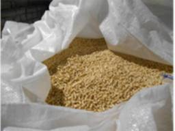 Wood pellets from the manufacturer.